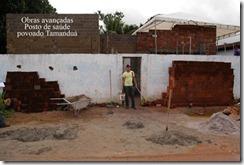 empConstrução do posto de saúde do povoado Tamanduá ç
